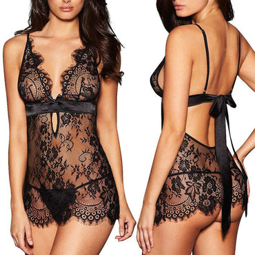 New Woman Female Exotic Sexy Lingerie Lace Dress Babydoll