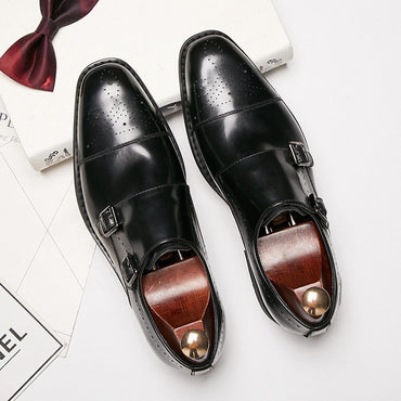 New Men's Business Dress Shoes Genuine Leather Formal Brogue