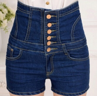 new women's summer plus size denim cowboy hot shorts