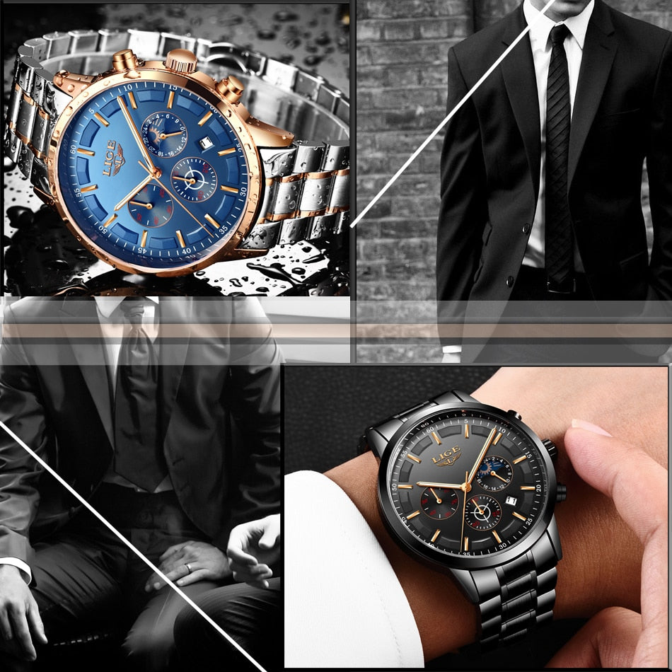 Men Fashion Sport Quartz Watch Top Brand Luxury Business Waterproof Watch
