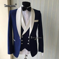 Black Slim Fit Men Suits for Wedding Groom Tuxedos