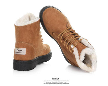 Women Snow Boots Winter Warm Fur In the Tube Cotton Boots