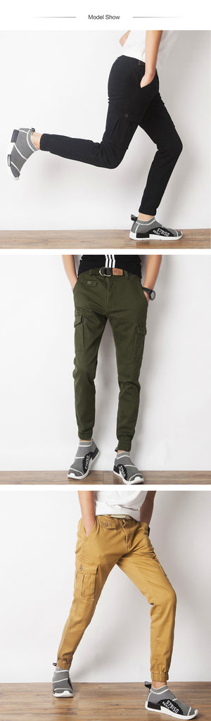 New men's pants Elastic foot close Skinny Pants