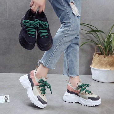 Spring Autumn Women Casual Shoes Comfortable Platform Woman Sneakers