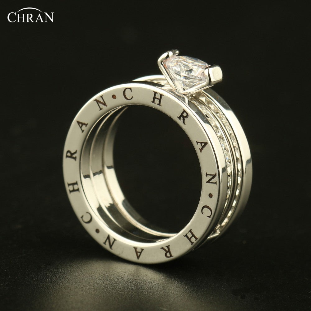 Jewelry Wholesale Classical Pave Band Zircon Engagement Rings For Women