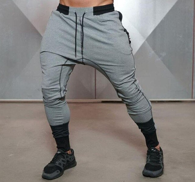 New Big Zipper Sweatpants Men Solid Workout Bodybuilding Clothing Casual Trousers