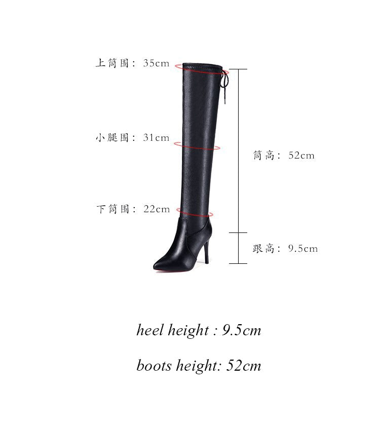 Women Shoes Boots High Heels Red Bottom Over the knee
