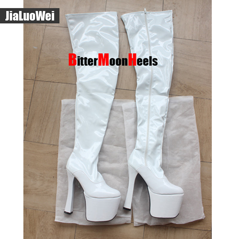 High heel Over the knee Stiefel boots Women 9cm platform thigh high boots
