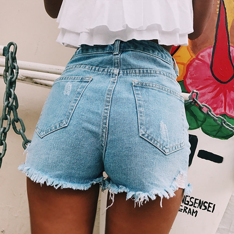Womens Shorts Summer High Waisted Denim