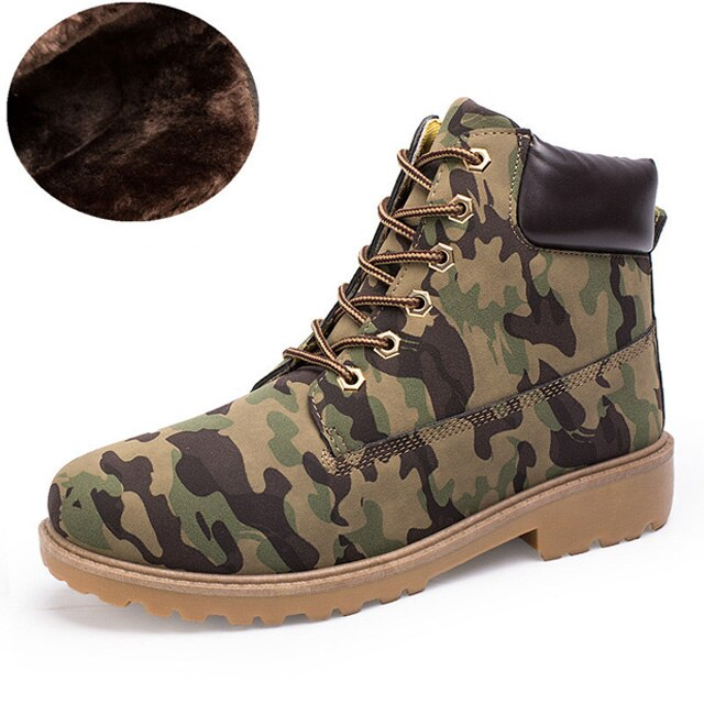 Winter Shoes Men Shoes Warm Men Boots Camouflage Military