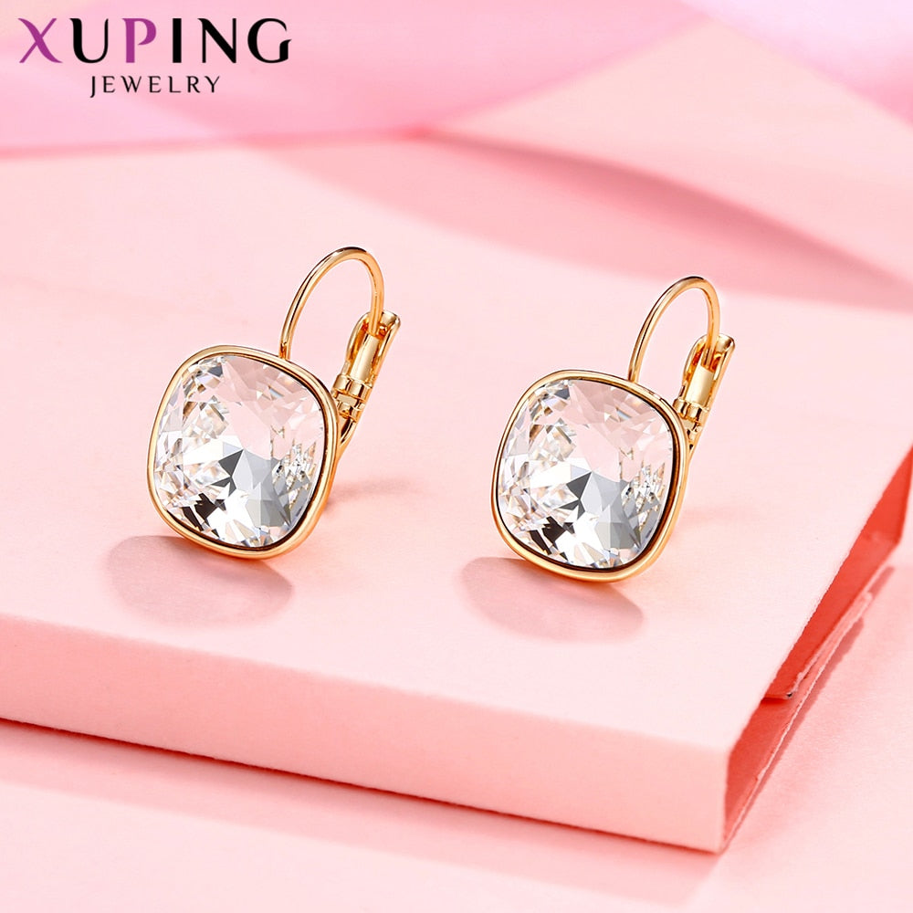 Luxury Earrings Valentine's Day Gifts Crystals from Swarovski Colorful Charm Drop