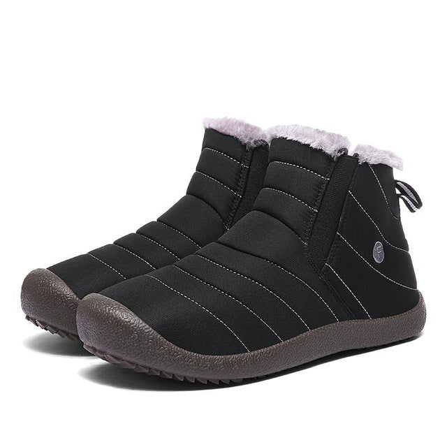 Winter Warm Men Boots Plush Inside Waterproof Ski Shoes