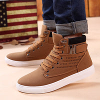 Ankle boots warm men snow boots winter Lace-up men shoes