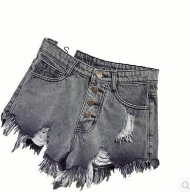 Women shorts high waists fur-lined leg-openings