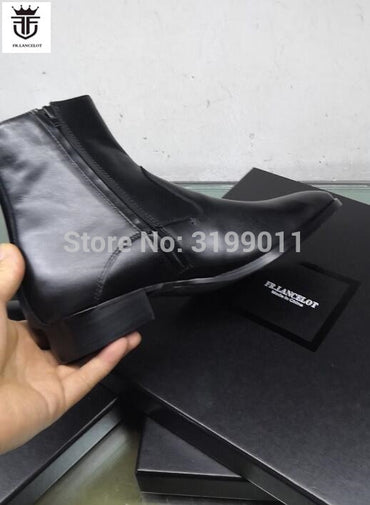 Brand new High end real leather men boot ins Style smooth leather