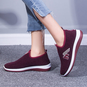 Women Sneakers Mesh Air Flat Bottom Casual Loafers Slip on