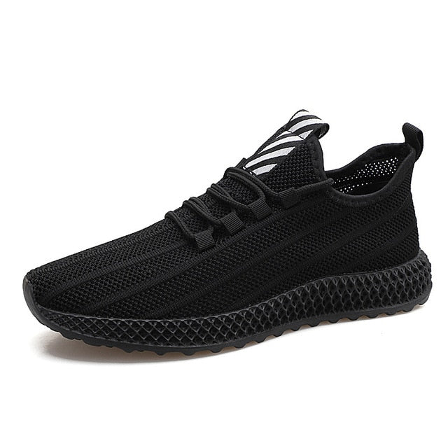 New Men Casual Shoes All Black Breathable Sneakers