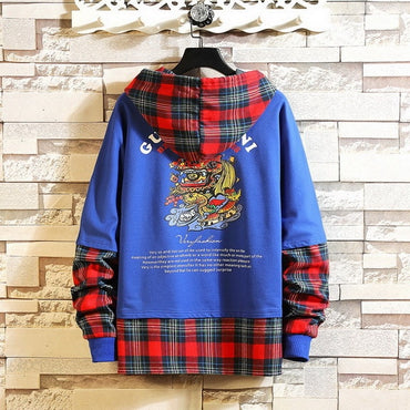 Hoodie Sweatshirt Mens Hip Hop Pullover Streetwear Casual Fashion Clothes