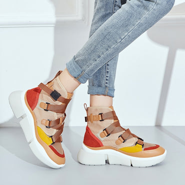 Women Sneakers Solf Lace-up Breathable Leisure Shoes