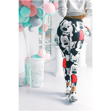 3D Mickey Women Leggings Stretchy Fitness Women Sweatpants Mickey Gym