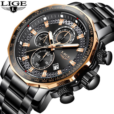 High-end Design Mens Watches Top Brand Luxury Waterproof Quartz Watch