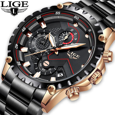 Top Brand Luxruy Men Fashion Watches Waterproof Quartz Watch