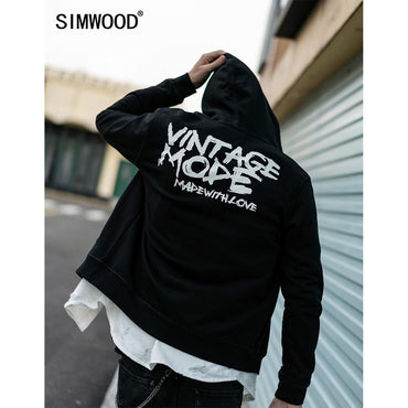 Zip-up Hoodies Men Streetwear Sweatshirts