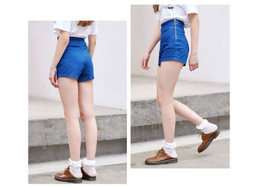 Denim Shorts Women Zipper Fly Side jeans Summer Trendy