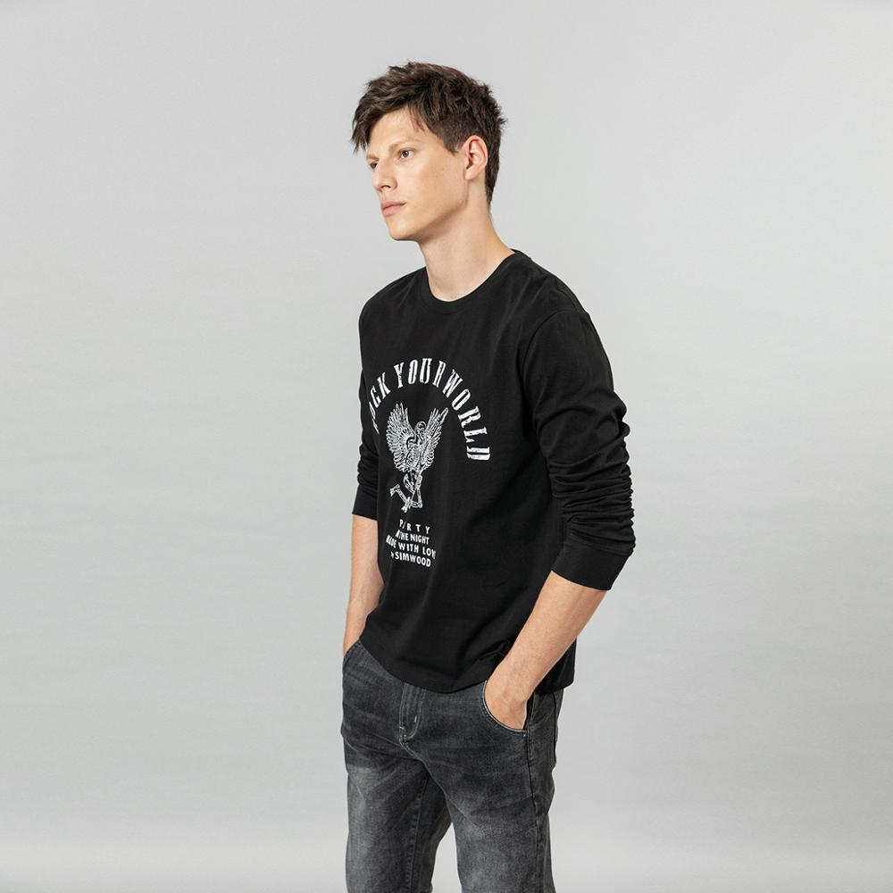 skull rock print long sleeve t-shirt