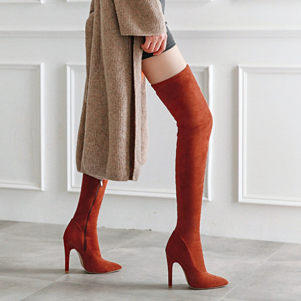 Women over the knee boots thin high heel sexy style