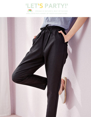 Summer new casual pants female students Korean