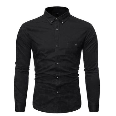 New Fashion Brand Shirts Mens Button Down Slim Fit Streetwear Long Sleeve Dress Shirts