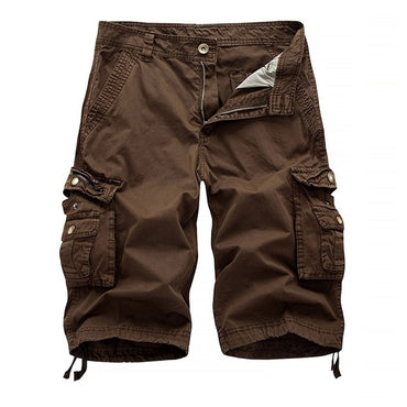 casual cargo shorts men solid knee length  short pants