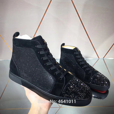 Toe cap Rivet Red bottoms men Shoes sneakers