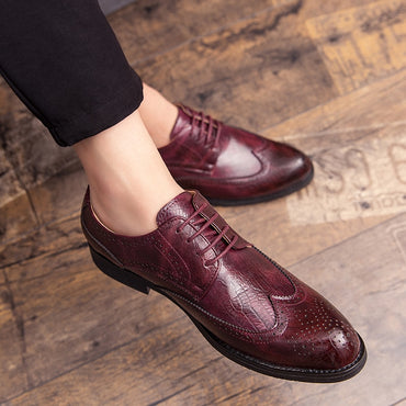 Business Shoes British Style Brogue Oxford Shoes