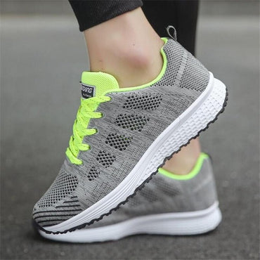 Shoes Woman casual shoes lace-up fashion breathable Walking mesh sneakers