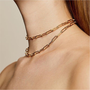 New Metal Punk Chokers Necklaces For Women Men