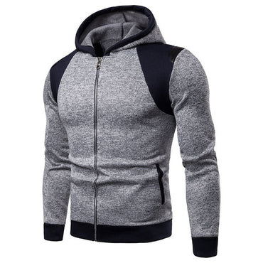 Warm Collar Cap Long Sleeves Pullover Hoody Sports Sweatshirts
