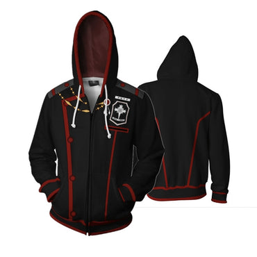 Hoodies Long Sleeve Zipper Hooded Coat Unisex Sweatshirt