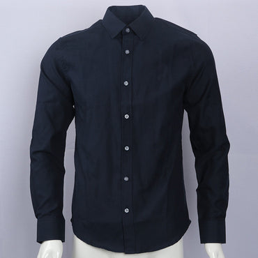 pony Oxford cotton shirt camisa masculina Men Long Sleeve Dress Shirts