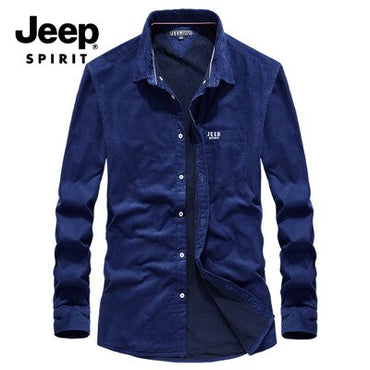 Windbreaker Fleece Warm Mens Shirts