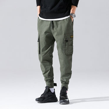 Men Heavyweight Winter Warm Joggers Oversize Camouflage Harem Pants
