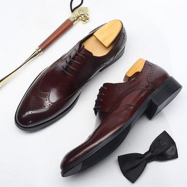 Genuine Leather Four Color Men Leather Shoes