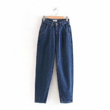 high street vintage mom jeans woman loose high waist jeans