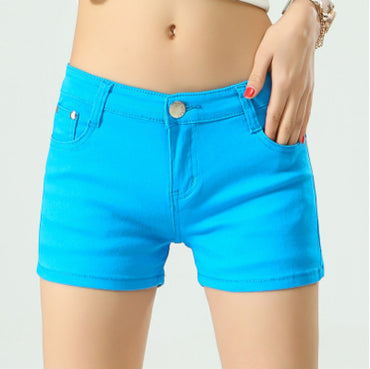 Women's Shorts Denim Shorts Cotton Candy Color