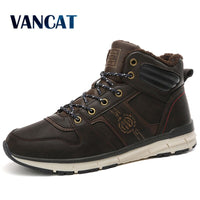 New Men Winter Fur Snow Boots