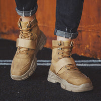 Warm Working Boots Lace Up Men's Desert Boots