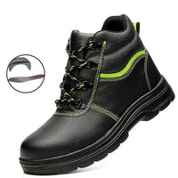 Winter Plush Keep Warm Men Work Safety Shoes Anti-piercing Protection Footwear