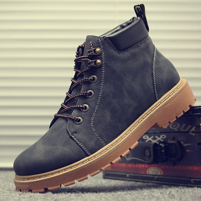 Ankle Boot Men's Snow Shoe Work Plus Size