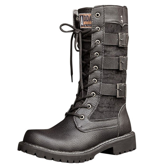 Aanti-horizontal bottom low heel tie western bottom snow boots